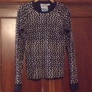 L.A.M.B Black and cream thermal Size L